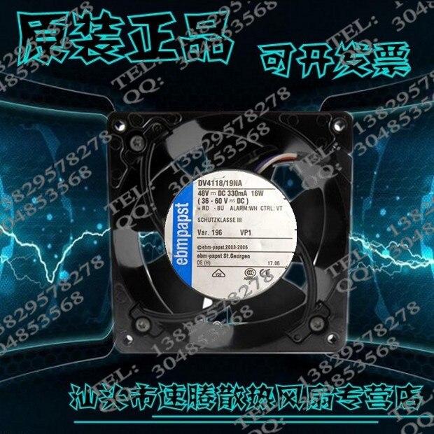 Купить с кэшбэком EBM 12038 DV4100 DV4118 48 v / 19 na 16 w 12 cm axial flow fan