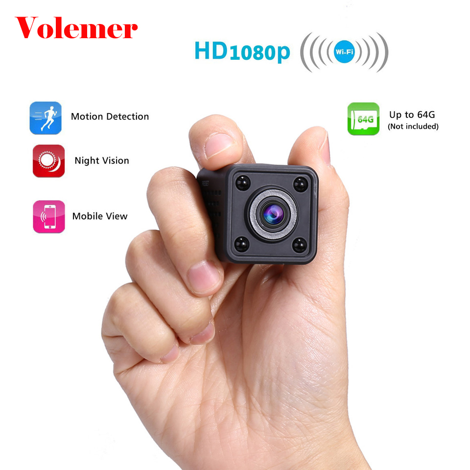 Volemer WIFI Mini IP Kamera Volle HD 1080 P Infrarot Nacht Version auto DVRs Schleife Stimme Video Recorder Bewegung Erkennen mini Kamera