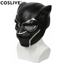 Coslive обновлен видения Черная пантера шлем фильм супергерой Косплэй шлем костюм реквизит для Хэллоуина Косплэй Show для взрослых