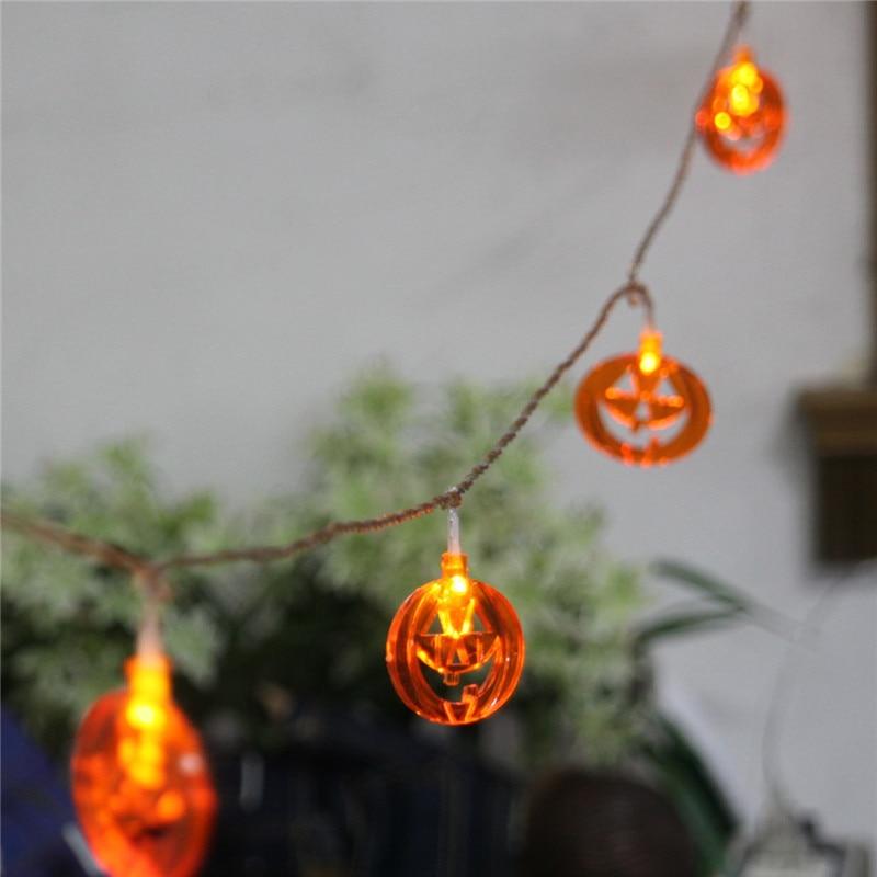 JULELYS 5M 20 Bulbs Garland LED Lights Pumpkin String Lights Party Christmas Gerlyanda for Home Room Decor Halloween Decorations