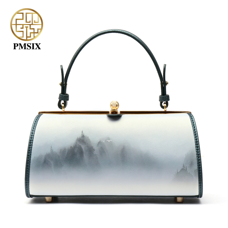 Pmsix 2018 New Split Leather Women Bags Casual Handbags Messenger Bag Large Shoulder bags Designer Vintage Bag Bolsas femininas viewinbox vintage shoulder bag split leather casual women messenger handbags retro box case bag