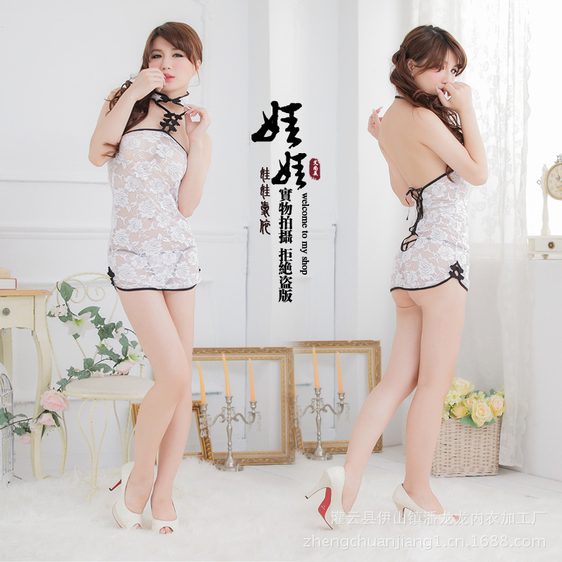 sexy Lingerie cats Chinese original customs of Shanghai Doll Cheongsam Costume night dress for sleep sexy teddy nightie lingerie