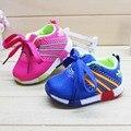 2016 nueva moda otoño zapatos de malla transpirable zapatos cómodos para niños y niñas zapatos deportivos venta directa de fábrica
