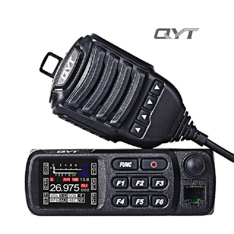QYT CB-27 AM FM bande citoyenne multi-normes CB Radio Mobile 12/24 V 26.965-27.405 MHz émetteur radio Mobile