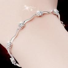 Фотография Silver Bracelet Lady Simple Personality Bride Girlfriend Valentine