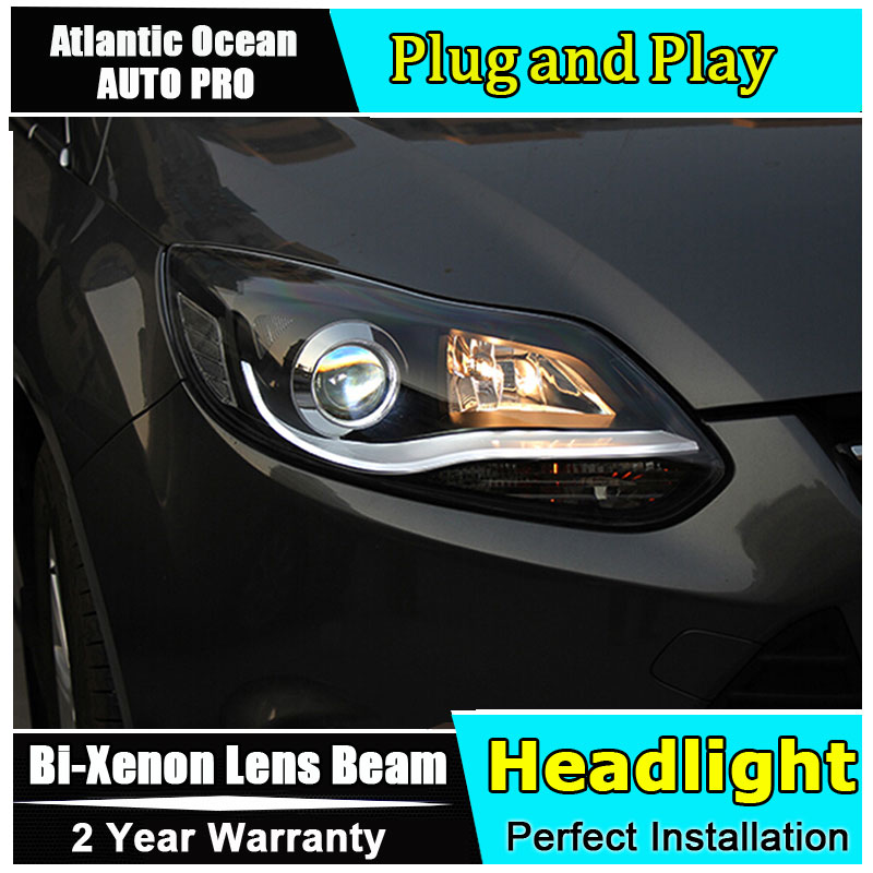 Auto.Pro Car Styling for 2012-2014 Ford Focus LED Headlights New Focus3 DRL Lens Double Beam HID KIT Xenon bi xenon lens hireno headlamp for mercedes benz w163 ml320 ml280 ml350 ml430 headlight assembly led drl angel lens double beam hid xenon 2pcs