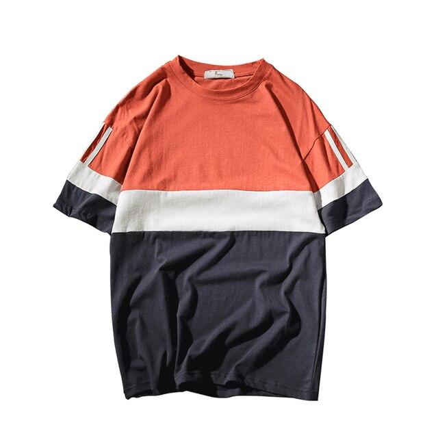 Mens T חולצות אופנה 2018 בציר רוק מצחיק Tshirt M-5XL 2018 חדש קיץ טלאים קצר שרוול Mens T חולצות אופנה BR46