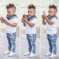 Summer Baby Boy Clothes 2017 Baby Boys Clothing Sets Kids T Shirt Pants Long Sleeve Children
