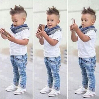 Summer Baby Boy Clothes 2017 Baby Boys Clothing Sets Kids T Shirt Pants Long Sleeve Children