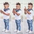 Summer Baby Boy Clothes 2017 Baby Boys Clothing Sets Kids T-shirt+Pants Short Sleeve Children Sets 2pcs Newborn Baby Clothes