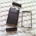 Черный Новый Полный Полный Крышку Корпуса Чехол + Металлический Каркас + клей + Кнопки Для Nokia N8, бесплатная Доставка