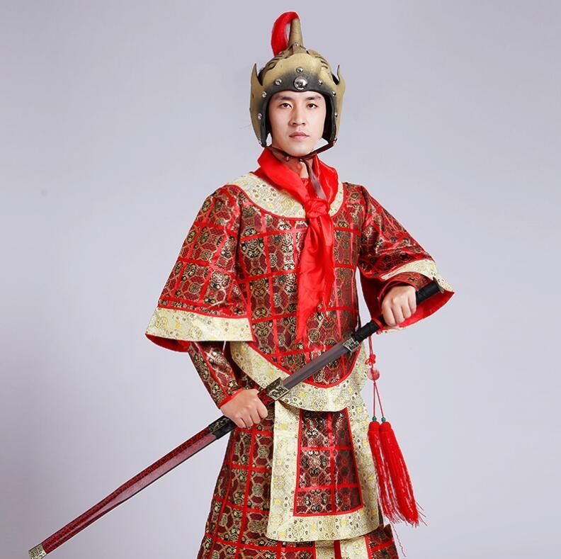 La garde d'épée costume TV show performance vêtements commandement général de antique mâle Han Qin Jin Tang généraux Maréchal trois Costume