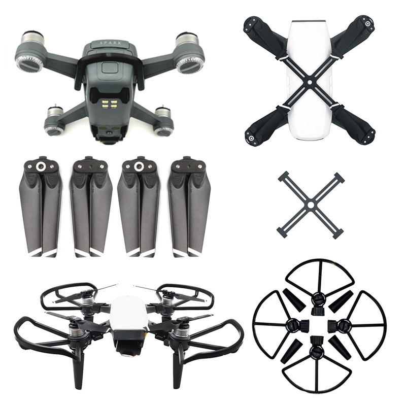 Sunnylife DJI Spark Accessories 4730 Propeller + Propeller Fixator + Propeller Guard with landing ge