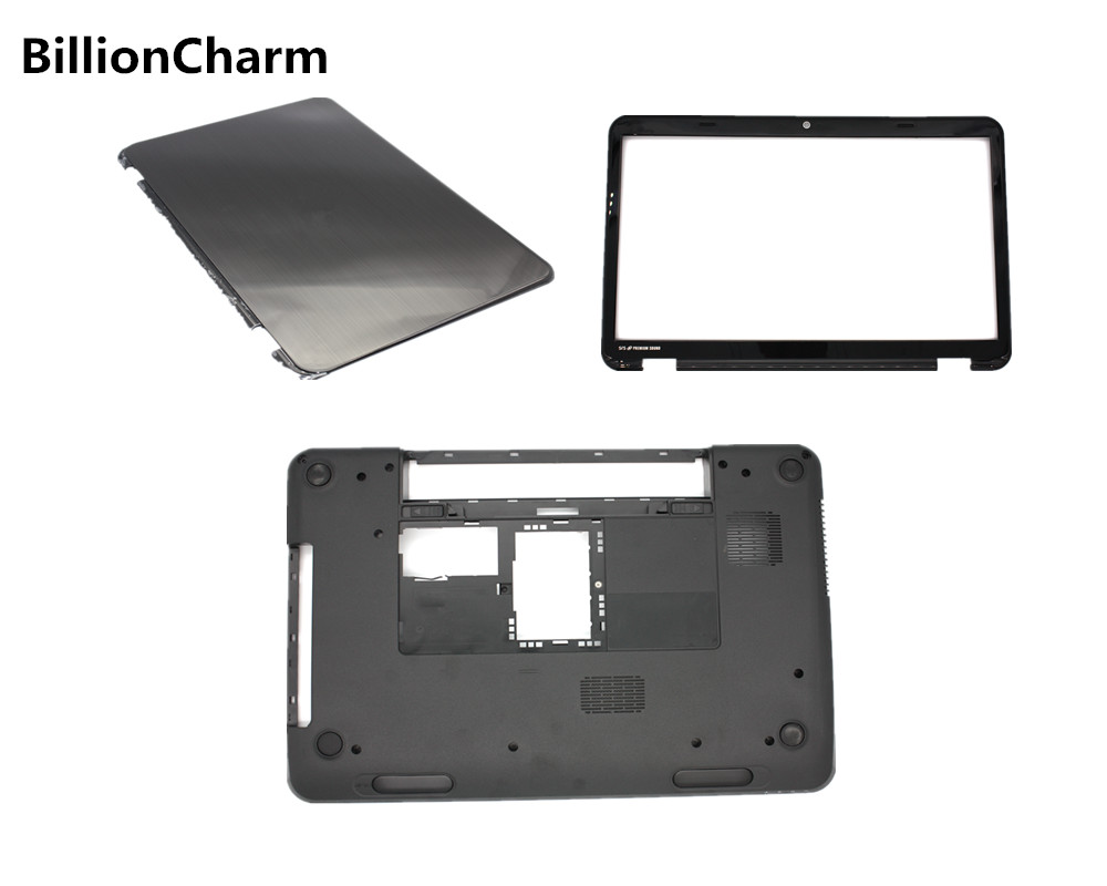 BillionCharm New Laptop Bottom Base <font><b>Case</b></font> for <font><b>DELL</b></font> Inspiron 15R <font><b>N5110</b></font> M5110 LCD Back Cover /LCD Display Front Bezel Black image