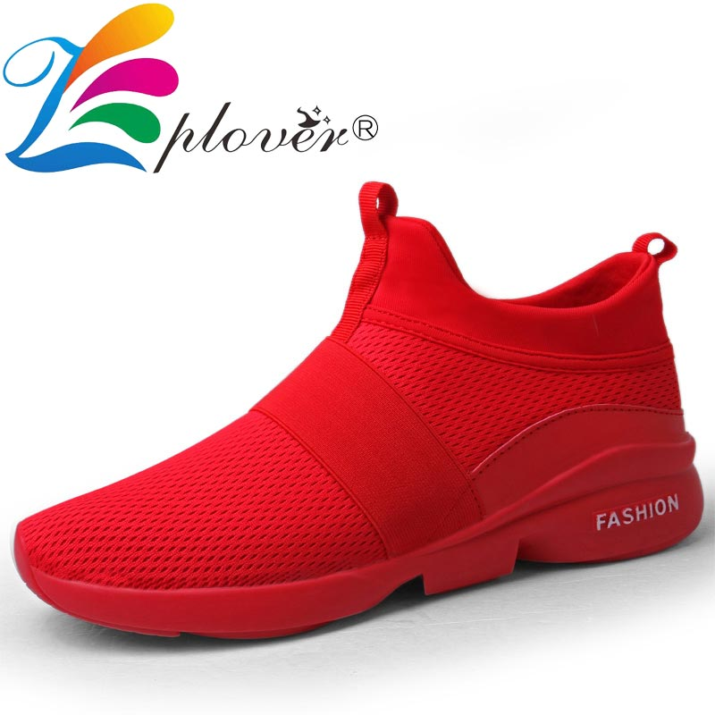 Vowes Fashion Men Sneakers Solid Colors Lace-up Running Shoes Ultra Lightweight Breathable Mesh Street Sport Gym Running Walking Shoes