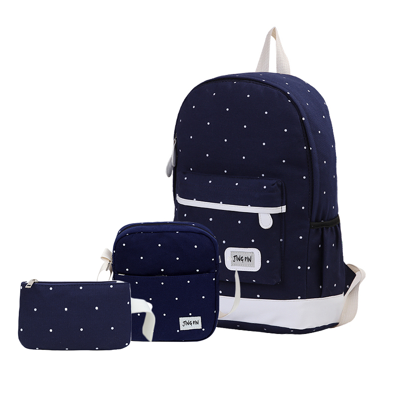 3 шт. Холст Школьные рюкзаки для девочек подростков Для женщин путешествия рюкзак сумка женский рюкзак для ноутбука рюкзак с кошельки