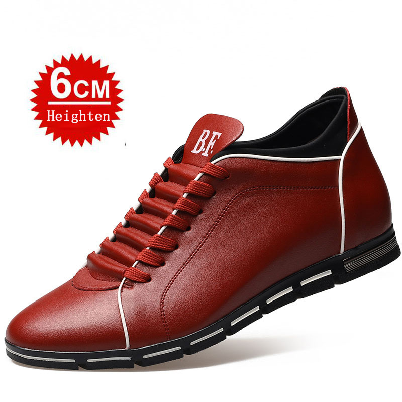 6 Cm Height Increasing Men's Shoes Classic Elevate Oxfords Men Casual Shoes Hombre Lace Up Leather Male Footwear Chaussure Homme  spring ultra light mens shoes men casual leather mans footwear zapatos hombre presto lace up breathable air chaussure homme 95