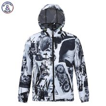 2017 Mr.1991INC Men's Jacket Print Motorcycle Thin Style Waterproof Hoody Hooded Jacket With Cap Autumn Spring Outerwear