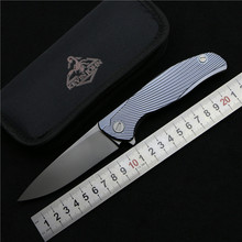 Kevin John Icebreaker F95 Bearing Flipper folding knife S35VN blade TC4 Titanium camping hunting pocket fruit knife EDC tools