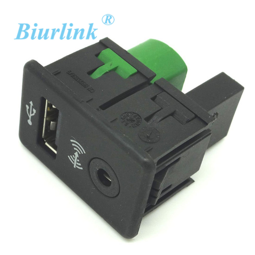 USB+AUX IN SWITCH ADAPTER PLUG For Volkswagen VW Passat B6