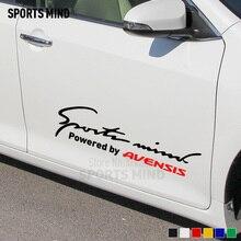 Personalizzazione Sport Mente Styling Auto Su Auto Coperture Autoadesivo Dell'automobile Della Decalcomania accessori esterni Per toyota avensis t25 accessori
