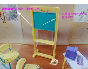 Image 3 - New fashion Classroom chairs + blackboard Gift Set doll accessories doll house furniture set for barbie doll baby girls DIY toys