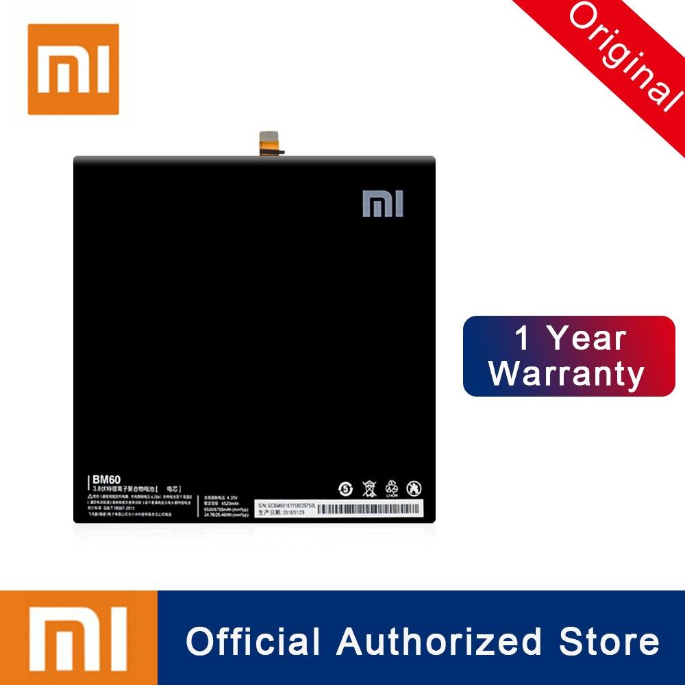 Xiao mi Original BM60 Tablet Batterie Für Xiao mi mi Pad 1 mi pad 1 A0101 Batterie 6520mAh Echt kapazität Wiederaufladbare Batteria
