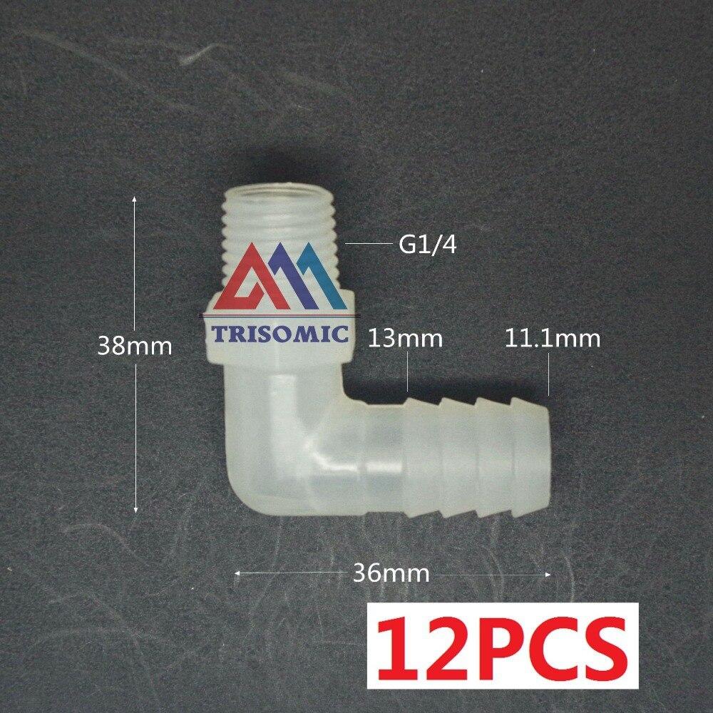 Rohre & Armaturen G1/4 Ellenbogen Gewinde Verbindungsrohr Joiner Pp Kunststoff-fittings Tank Airline Säure Und Laugenbeständig Ehrlich 12 Stücke 11,1mm