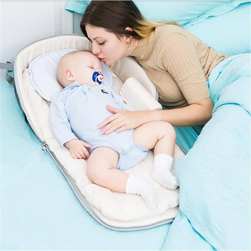 2018 nouveau lit de bébé Portable multifonction sac à dos lit pour nouveau-né en plein air pépinière voyage pliant bébé berceau bébé en bas âge berceau - 4