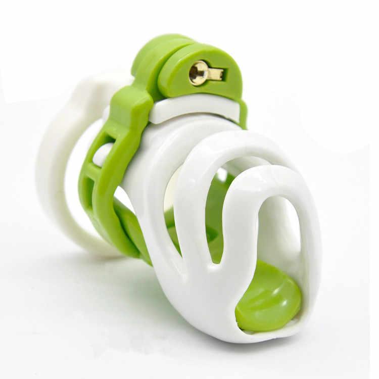 חדש עיצוב פלסטיק זכר זין מנעול 4 טבעות צניעות אנטי את מכשיר כלוב CB6000 שעבוד משענות SM מין צעצוע עבור גברים
