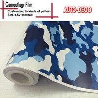 Hot - vente Camouflage vinyle autocollant bombe Wrap autocollant sur la voiture DacalsRolls feuille feuille avec Air Drains FedEx livraison gratuite 30 m / roll
