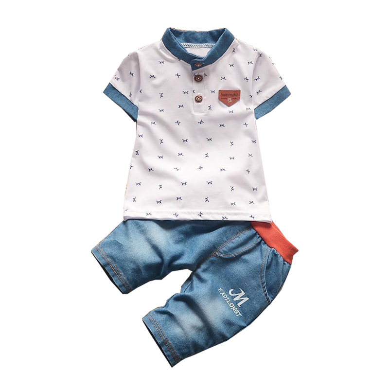 1 2 3 4 Year Boys Clothes Summer Style Cotton Shirts Shorts Toddler Children Clothing Set 2018 New Kids Clothes Suits for Boys