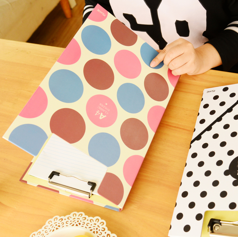 1 piece New hot Creative cute student stationery Simple quality A4 folder Writing Pads Clipboard Office supplies free shipping