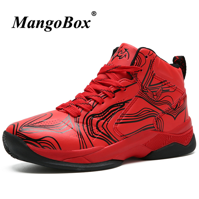Children Basketball Shoe Unisex High Top Basket Shoes Boys Red Kids