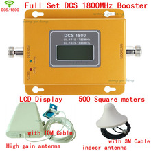 Full Set Top quality LCD 4g DCS 1800MHZ mobile signal booster DCS,Phone signal repeater ,DCS signal amplifier,coverage 500m2