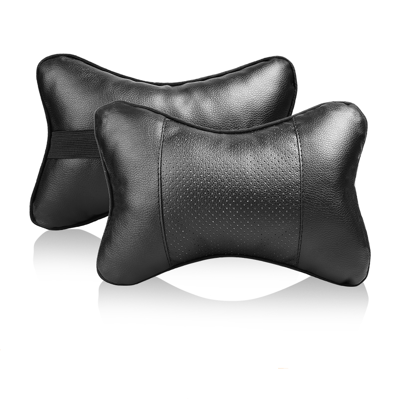 Both Side PU Leather Car Neck Pillow Breathable Uinversal Car Seat Head Neck Rest Cushion Headrest Auto Interior Accessories