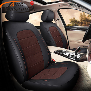 AutoDecorun Tailored Genuine Leather Car Seat Covers for Cadillac XT5 Cover Seats Cushion Support Interior Accessories 2016-2018