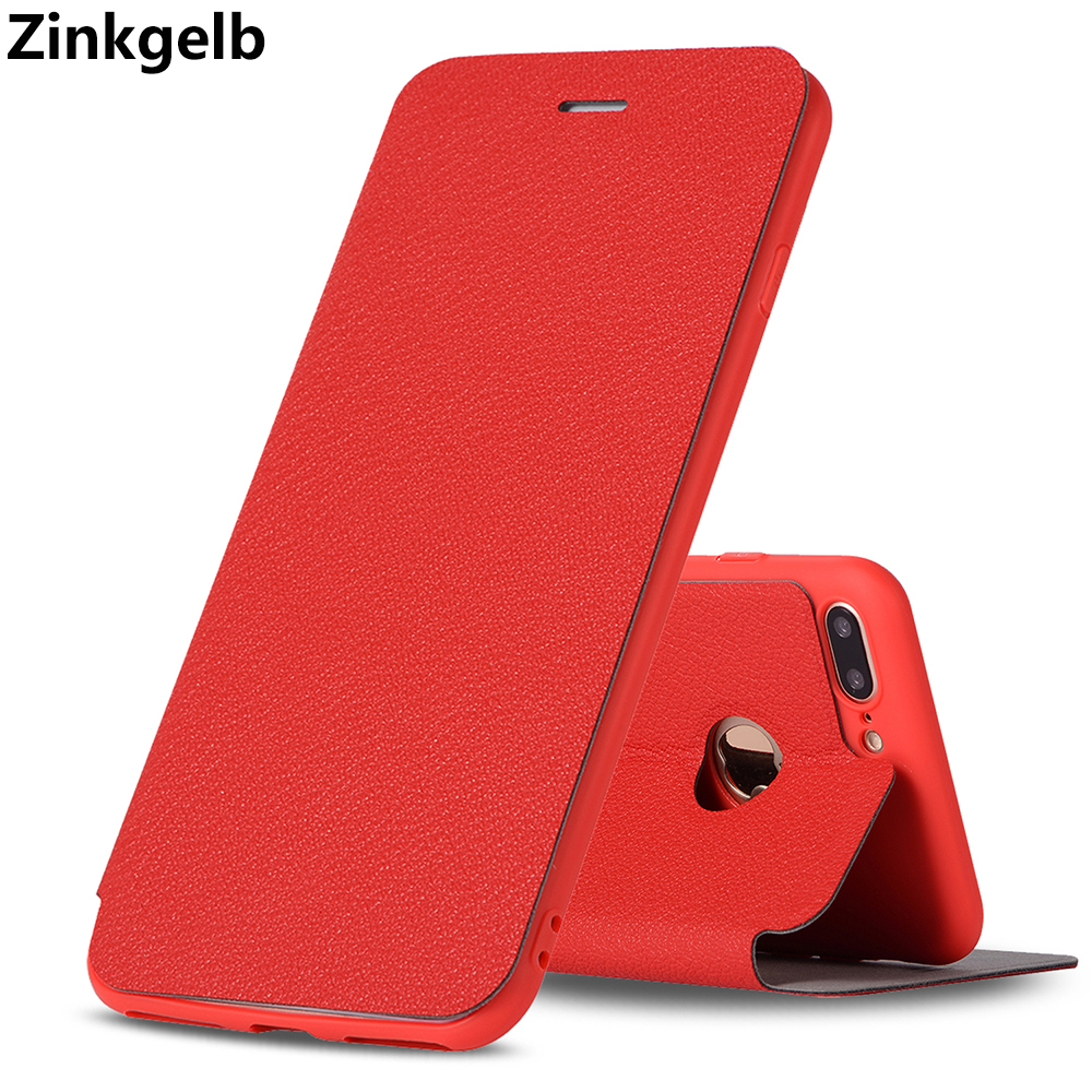 For iPhone 7 Plus Case Cover Luxury Cute Slim PU Leather Soft TPU Silicone Protection Wallet Phone Case for iPhone 7 Plus Cover