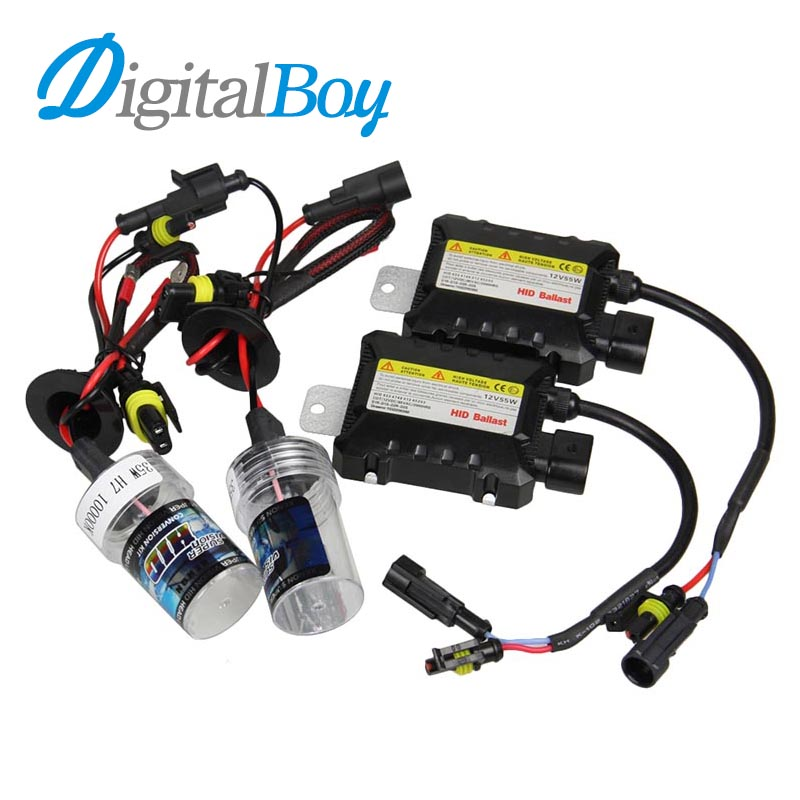 Digitalboy Xenon Bulb H7 35W Car HID Xenon Slim Ballast Conversion Block Kit for H1 H3 H8/H9/H11 880 881 9005 9006 Car Headlight slim hid xenon ballast 880 4300k headlight kit conversion bulbs 35w [c476]