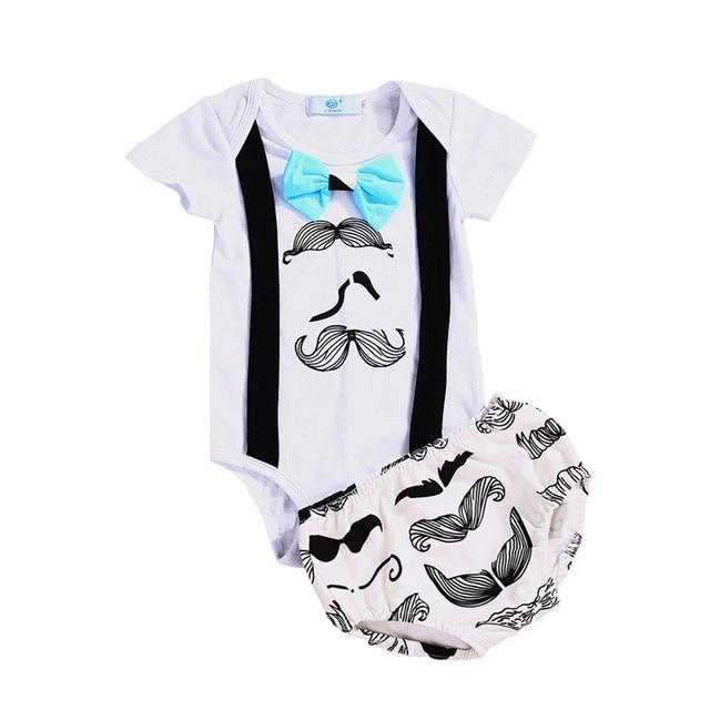 00dcf956c Summer 2017 Cute Newborn Infant Baby Boy Girl Clothes Suspender Romper Tops  +Shorts 2PCS Outfit Set