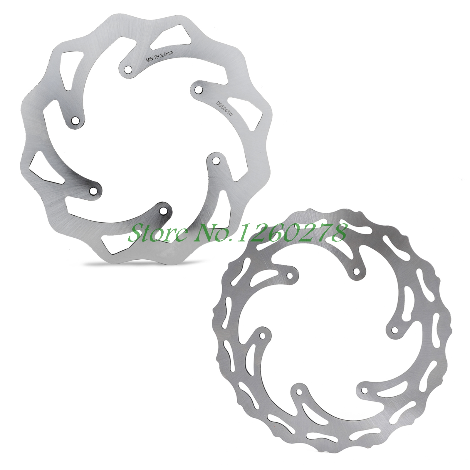 Motorcycle 260/220mm Front Rear Brake Discs Rotors For Husqvarna FC FX TC FE TE 125 250 300 350 450 501 2013 2014-2017 2018 цена и фото