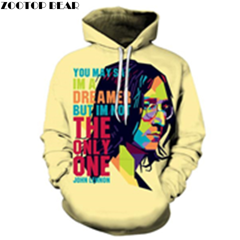Imagine Brand Hoodies Prints Men Spring Sweatshirts Drop Ship 3D Summer Women Tracksuits ZOOTOP BEAR Brand Pullover Unisex 2018