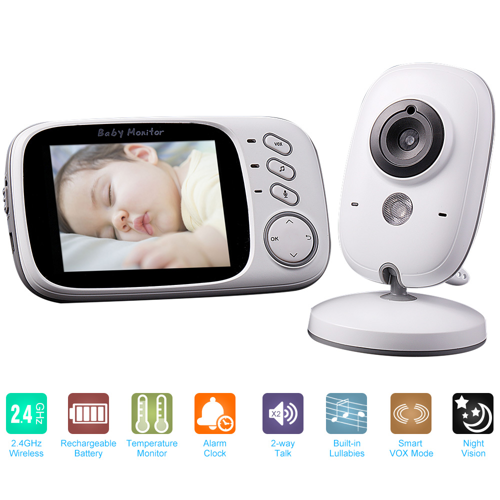 Wireless Video Baby Monitor High Resolution Baby Nanny Security Camera Night Vision Temperature Monitoring Baby Camera MonitorWireless Video Baby Monitor High Resolution Baby Nanny Security Camera Night Vision Temperature Monitoring Baby Camera Monitor