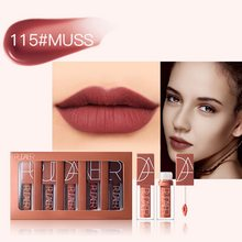 Wanita Makeup 5 Warna Seksi Lipgloss Labu Warna Liquid Tahan Air Tahan Lama Lipstik Makeup Set Nude Brown(China)