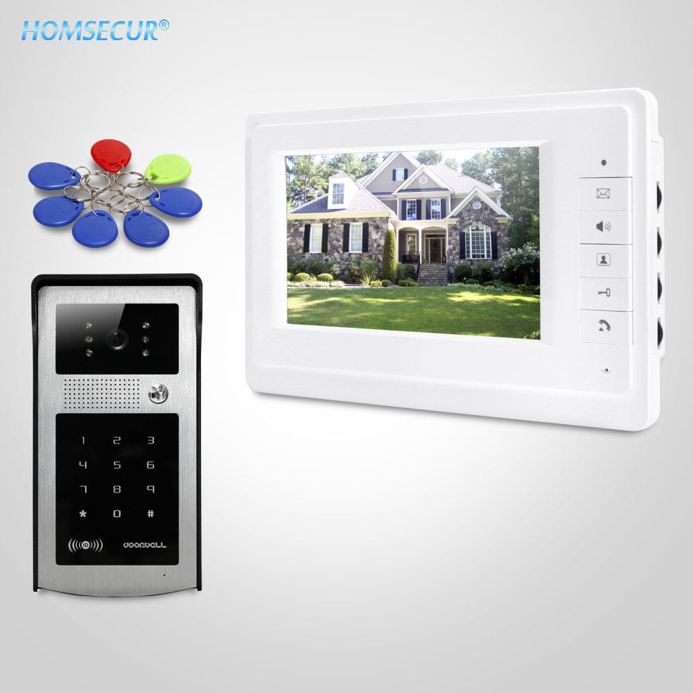 HOMSECUR 7 Video Door Entry Phone Call System With Keyfobs Password Keypad For Apartment XM701 + XC004-SHOMSECUR 7 Video Door Entry Phone Call System With Keyfobs Password Keypad For Apartment XM701 + XC004-S