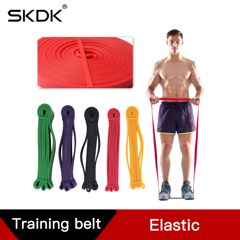 SKDK Resistance Band Pull Rope Fitness Body Strength Powerliftiting Exercise Training Bands 208cm Crossfit Power Latex Workout