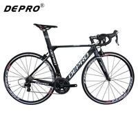 Depro 22-Speed دراجات سباق الطريق دراجة ألياف الكربون الطريق الدراجة 700c الدراجة الخفيفة جدا 8 كيلوجرام ems المهنية الدراجات bicicleta