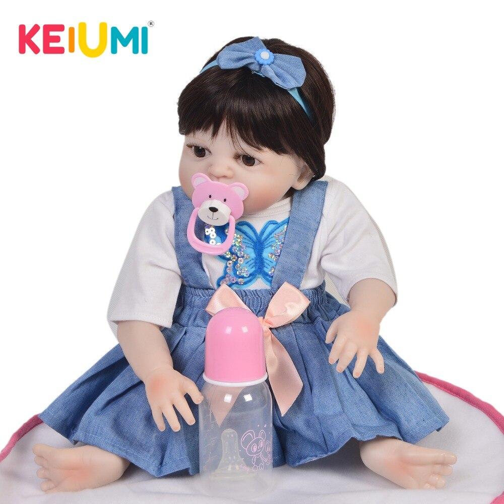 KEIUMI New Arrival 19 48 cm Reborn Girl Baby Doll Full Silicone Body Realistic Princess Newborn