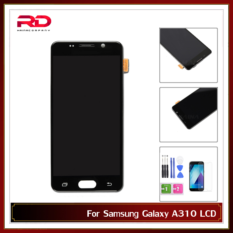 Adjustable AMOLED A310 lcd For Samsung Galaxy A3 2016 LCD A310F Display Touch Screen Digitizer Replacement Screen with frame-in Écrans LCD téléphone portable from Téléphones portables et télécommunications on AliExpress - 11.11_Double 11_Singles' Day 1