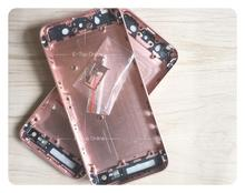 Rosa de oro con botones completa chasis para iphone 5 5g/5S iphone5 cubierta Trasera Como SÍ aleación de metal cubierta de la batería puerta
